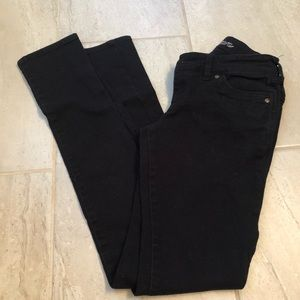 Black tall straight leg Morgan jeans
